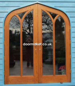 oak doors gothic double doors