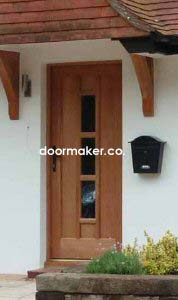 oak door 3 pane