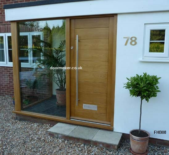 Oak doors oak doors contemporary doors bespoke doors for Modern glass porch designs