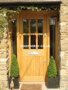 oak door 6 pane fl door