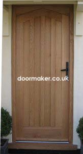 oak doors panelled angled head