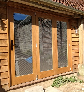 oak bifolding sliding doors