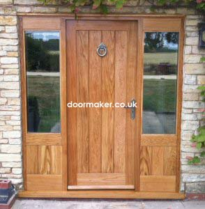 oak door framed ledged