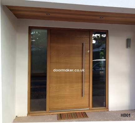 oak doors contemporary front door horizontal boarded