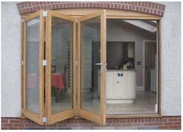 oak bifold doors sliding doors