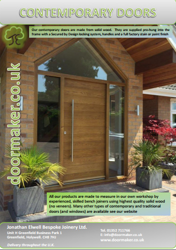 contemporary doors brochure
