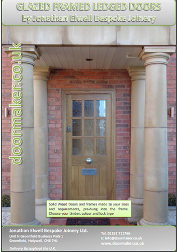 glazed framed ledged doors brochure